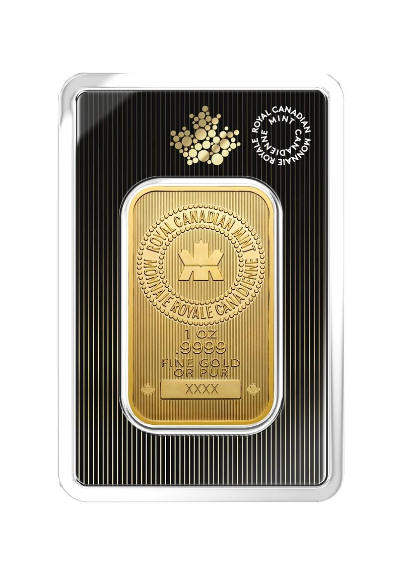 1 Oz Royal Canadian Mint Gold Bar Thebullionpeople