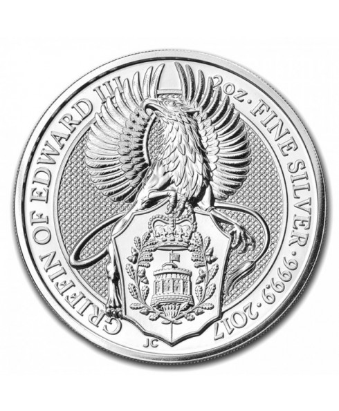 2017 Queen's Beasts The Griffin 2 oz Silver Coin