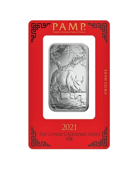 PAMP Suisse Ox 1 oz Silver Bar