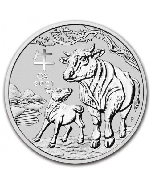 2021 Perth Mint Lunar Ox (Series III) 1/2 oz Silver Coin