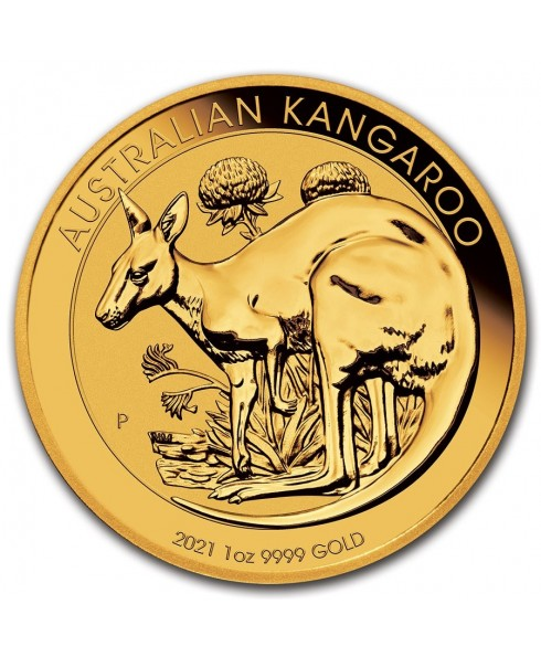 2021 Perth Mint Kangaroo 1 oz Gold Coin