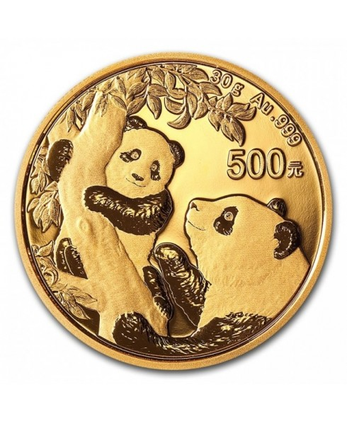 2021 Panda 30 gram Gold Coin