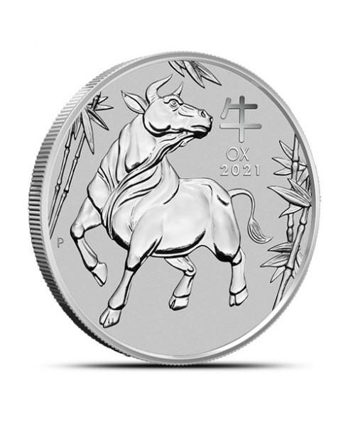 2021 Perth Mint Lunar Ox (Series III) 1 oz Platinum Coin
