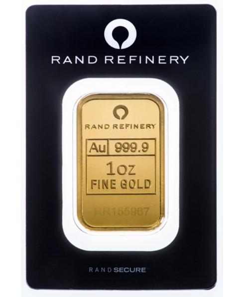 Rand Refinery Elephant 1 oz Gold Bar