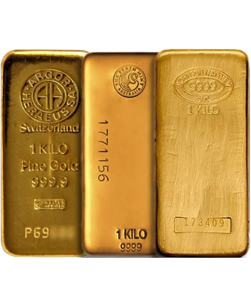 Assorted Brand 1 kilo Gold Bars