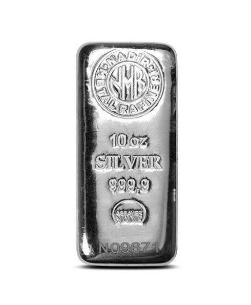 Nadir Refinery 10 oz Silver Bar