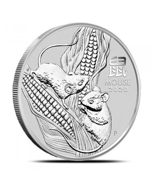 2020 Australia Lunar Mouse 1 oz Silver Coin