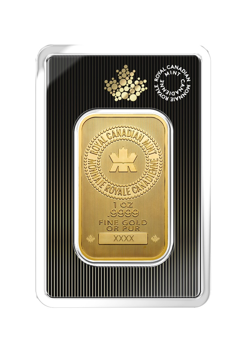 1 Oz Royal Canadian Mint Gold Bar Thebullionpeople