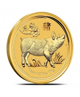 2019 Perth Mint Year of the Pig 1 oz Gold Coin