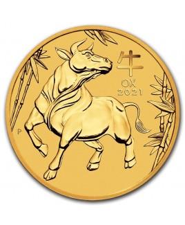 2021 Perth Mint Lunar Ox (Series III) 1 oz Gold Coin