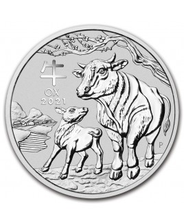 2021 Perth Mint Lunar Ox (Series III) 1/2 oz Silver Coin