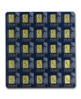 PAMP Fortuna Multigram 25 x 1 gram Gold Bars