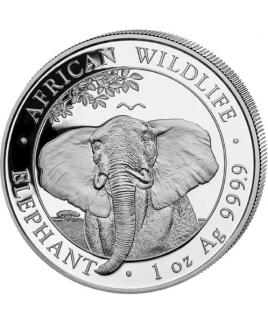 2021 Somalia Elephant 1 oz Silver Coin