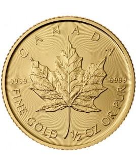 Maple Leaf 1/2 oz Gold Coin