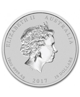 2017 Perth Mint Year of the Rooster 10 oz Silver Coin