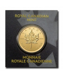Canadian Maple Leaf 1 Gram Gold Coin