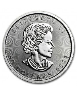2021 Canadian Maple Leaf 1 oz Platinum Coin