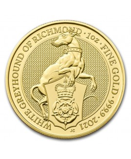 2021 Queen's Beast - The White Greyhound 1 oz Gold Coin
