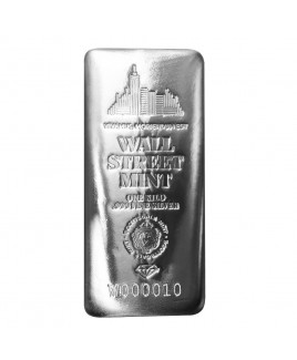 Scottsdale Wall Street 1 KG Silver Bar