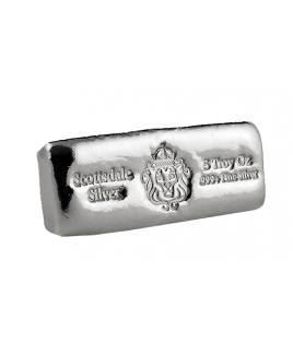 Scottsdale Cast 5 oz Silver Bar