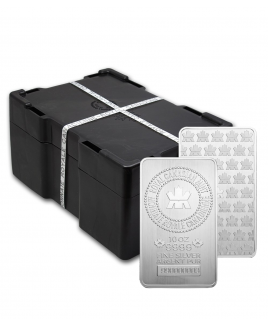 Royal Canadian Mint 10 oz Silver Bars - Sealed Monster Box